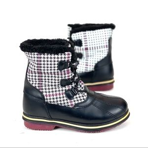 Athletech Boots Thermolite Snow Winter Houndstooth